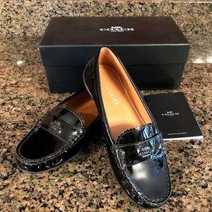 Coach Odette Black Patent Loafer; Size 6